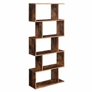 VASAGLE Geometrical Wooden Bookcase
