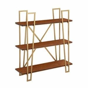 Katerina X Frame Wood Shelf Bookcase