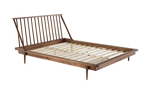 Modern Wood Queen Spindle Bed