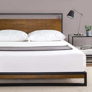 Suzanne Metal and Wood Platform Bed