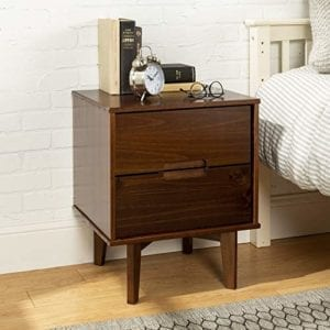 Walker Edison Grooved Handle Wood Nightstand