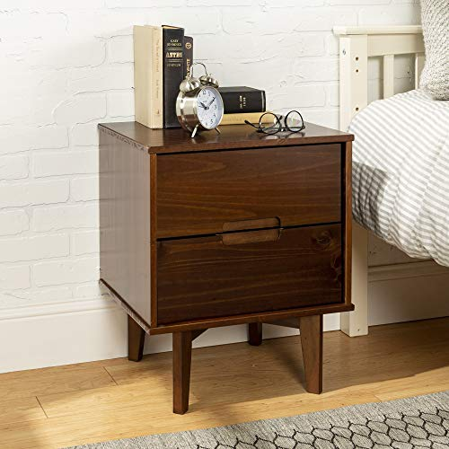 Walker Edison Grooved Handle Wood Nightstand