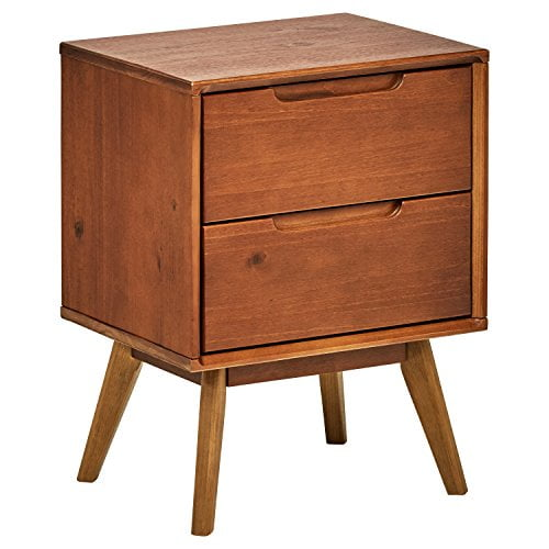 Rivet Mid-Century Stark 2-Drawer Nightstand