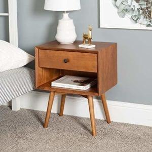 Walker Edison Mid Century Modern Wood Nightstand