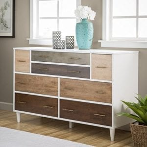8-Drawer Christian Rubber Wood Dresser