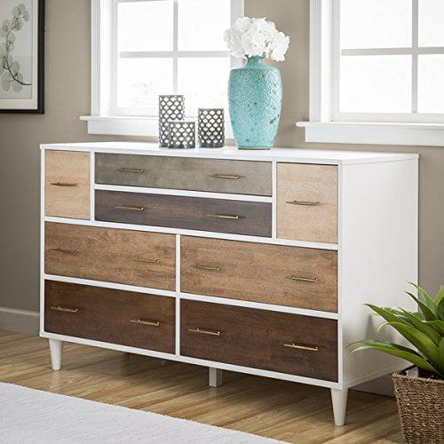 8-Drawer Christian Rubber Wood Dresser