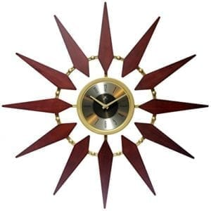 Orion Mid-Century Modern Starburst Wall Clock