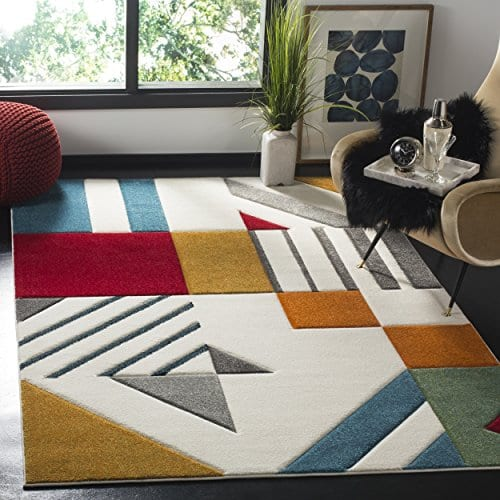 Safavieh Ivory and Peacock Blue Area Rug