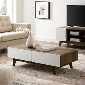 Modway Mid-Century Modern Wood Coffee Table