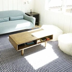 Dexter Art Deco Walnut Coffee Table