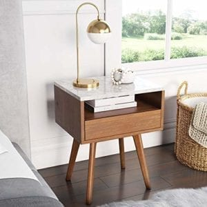 James Faux Accent Nightstand