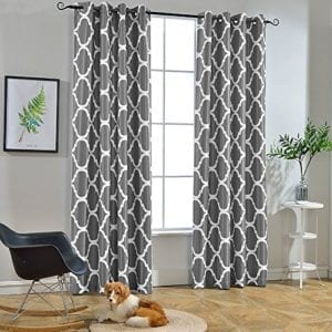 Melodieux Moroccan Blackout Grommet Top Curtains