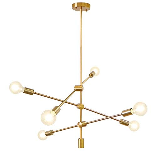 LynPon Modern Gold Sputnik Chandelier