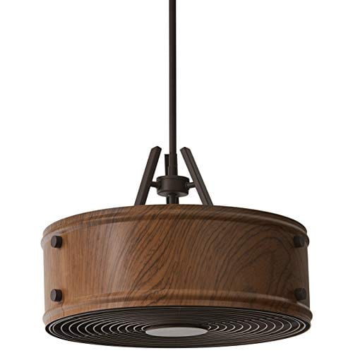 Rivet Mid Century Modern Chandelier - Faux Wood