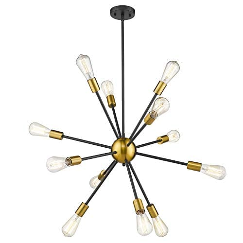 Jazava Modern Sputnik Chandelier, 12-Light
