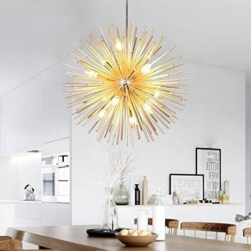 Golden Sputnik Chandelier (Dia 22-Inch)