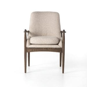 Braden Dining Arm Chair in Light Camel