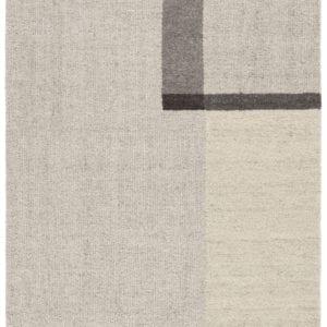Capone Handmade Geometric Beige & Dark Gray Area Rug
