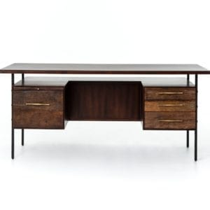 Lauren Desk in Natural Peroba