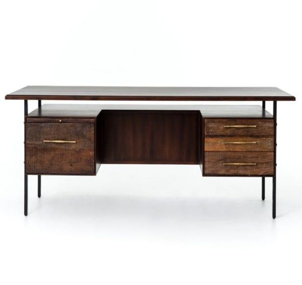 Lauren Desk in Natural Peroba