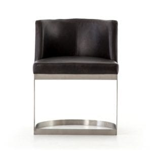 Wexler Dining Chair in Distressed Black