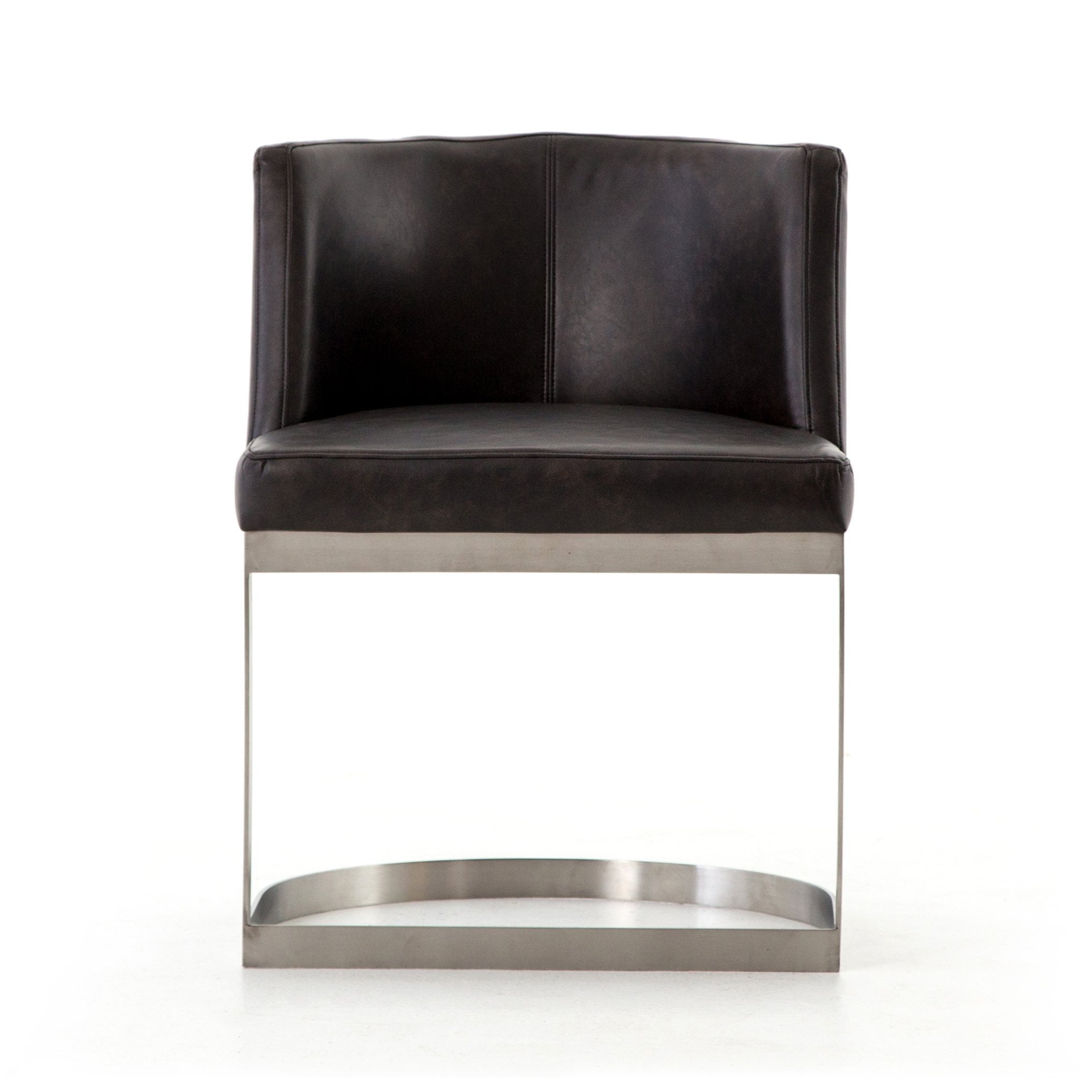 Picture of: Wexler Dining Chair In Distressed Black Mid Decco