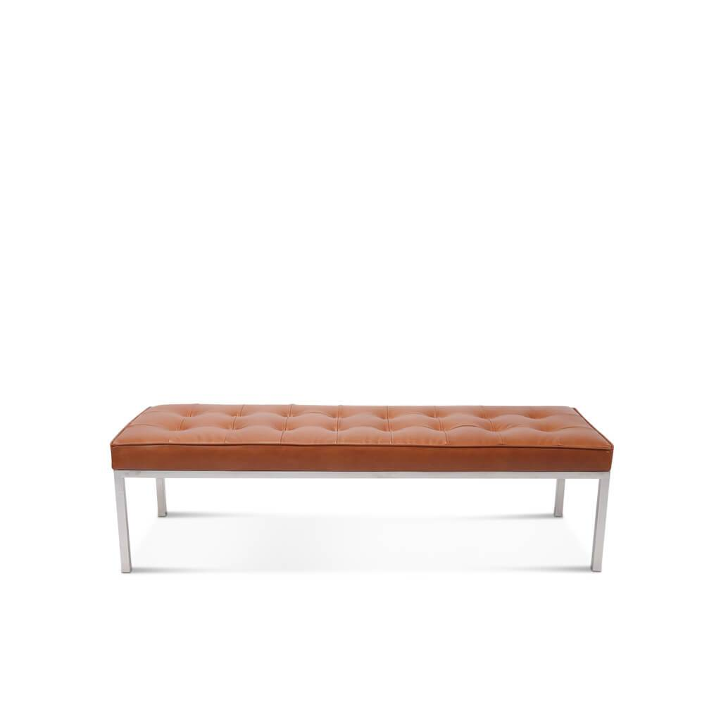 Image of: Florence Knoll Relaxed Bench 3 Seats Mid Century Modern Mid Decco